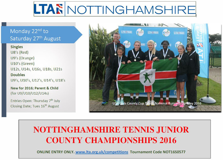 Nottingham Tennis Junior County Champs 2016
